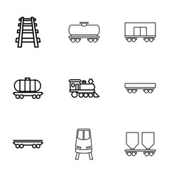 9 rail icons vector image