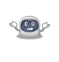 A picture grinning astronaut helmet cartoon design vector