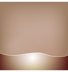 Abstract brown background with a glossy wavy frill vector
