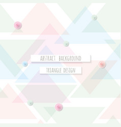 Abstract triangle seamless pattern background can vector