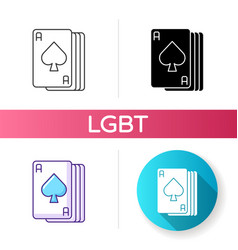Ace cards icon vector