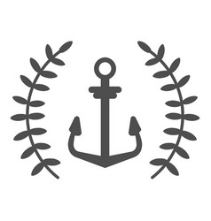 anchor single logo icon separate isolated vector image