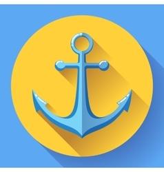 Anchor text icon Flat design vector image