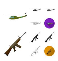 Army and armament cartoonblackflatmonochrome vector