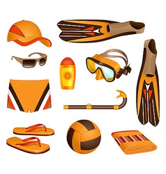 Beach accessories for man vector