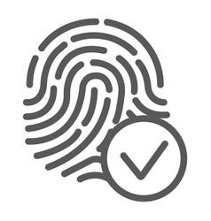 biometrix line icon scanner and biometric vector image