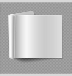 blank empty horizontal album mockup realistic vector image