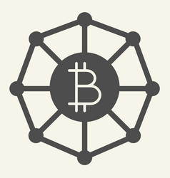 blockchain world solid icon cryptocurrency vector image