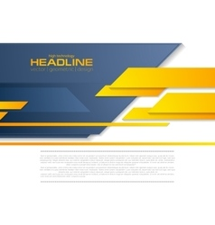 Blue orange tech business brochure corporate vector