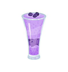 Blueberry smoothie healthy food for breakfast vector