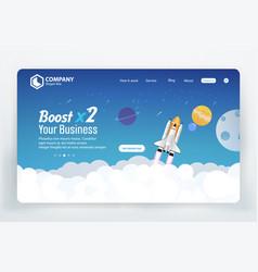 Boost business website landing page templat vector