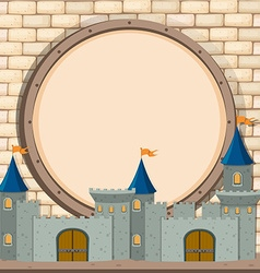 Border design with castle vector image
