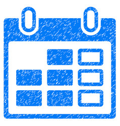 Calendar week grunge icon vector