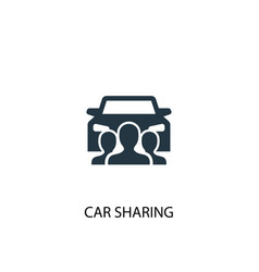 car sharing icon simple element car vector image