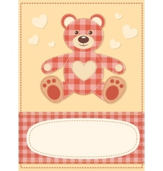 Card with the teddy bear for baby shower 3 vector image