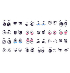 Cartoon eyes comic watching eye funny facial vector