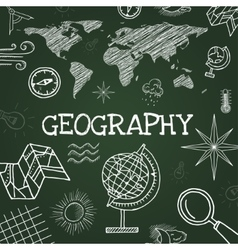 Chalk draw geography vector