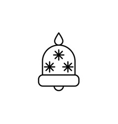 christmas bell outline icon element of new year vector image