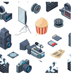 cinematograph isometric pattern or vector image