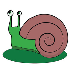 Clipart a small and pretty green snail or color vector