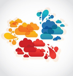 Collection of info speech clouds vector image