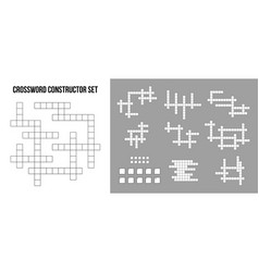 Creative crossword puzzle vector