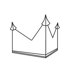 Crown royalty monarchy outline geometric vector