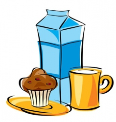 dairy breakfast vector image