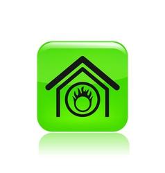 Danger home icon vector