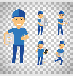 Delivery man on transparent background vector