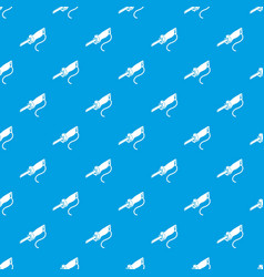 Electric pole saw pattern seamless blue vector