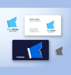 face scan abstract logo and business card vector image