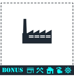 Factory icon flat vector image