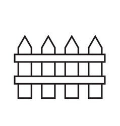 Fence simple gardening icon in trendy line style vector