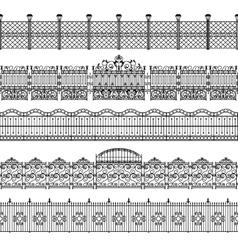 Fences Border Pattern Set vector