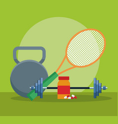 Fitness and health vector