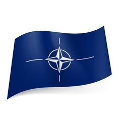 Flag of NATO vector image