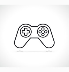 Gamepad video game icon vector