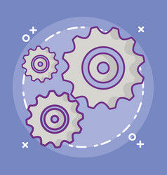 gear wheel design vector image