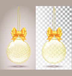 Glass christmas toy on a transparent background vector