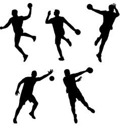 Handball players vector