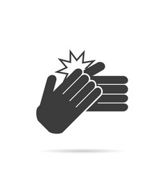 Icon clapping hands on a white background vector
