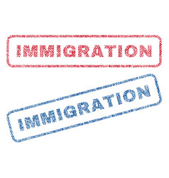 Immigration textile stamps vector