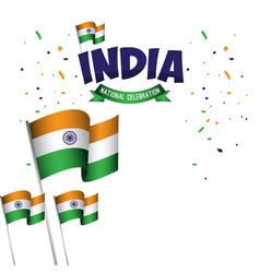 India national celebration poster template design vector
