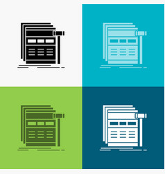 Internet page web webpage wireframe icon over vector