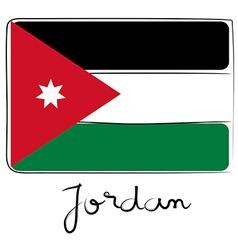 Jordan flag doodle vector