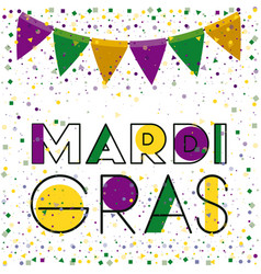 mardi gras colorful background with triangular vector image