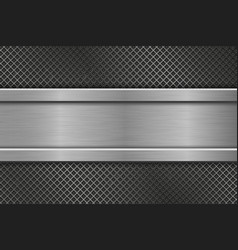 metal perforated texture with horizontal iron vector image