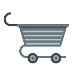 Metal trolley icon isolated vector
