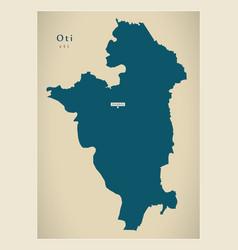 Modern map - oti region map ghana gh vector